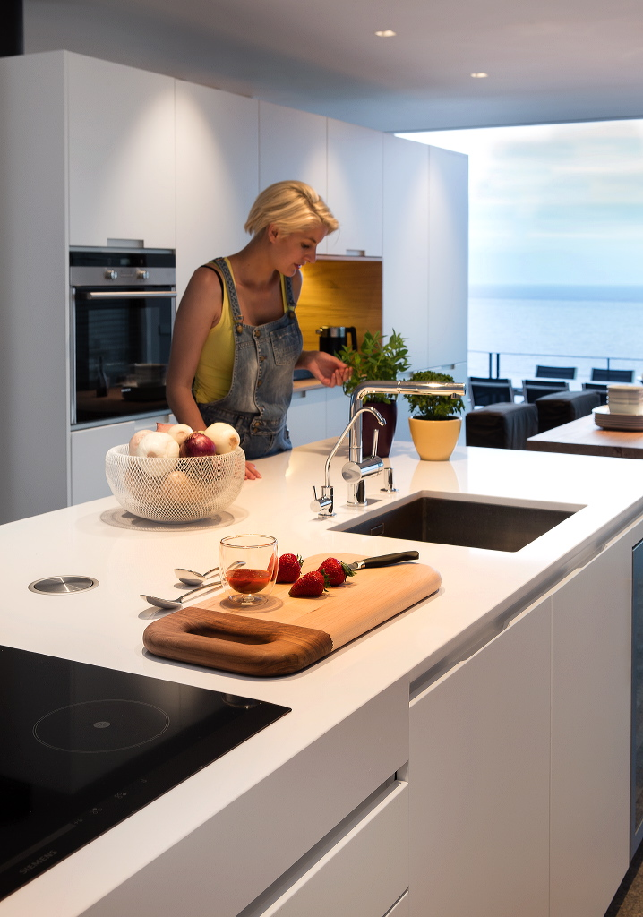 model in modern design kitchen in begur