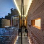 modern villa in the evening in begur